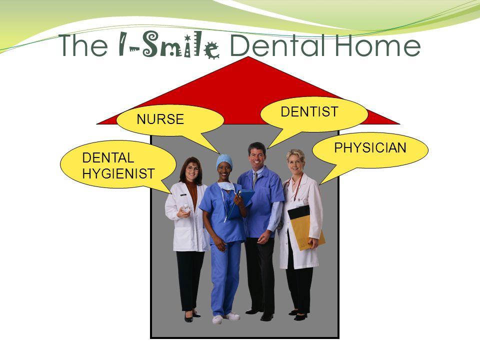 The I-Smile Dental Home PHYSICIAN DENTAL HYGIENIST DENTIST NURSE