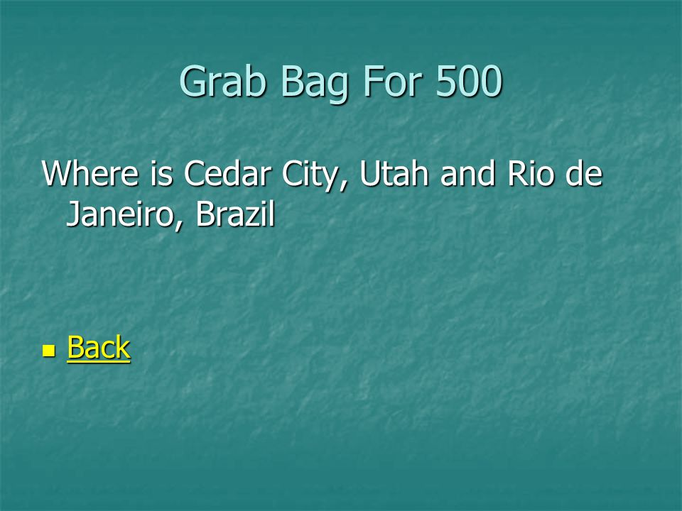 Grab Bag For 500 Two new temples were announced for these cities.