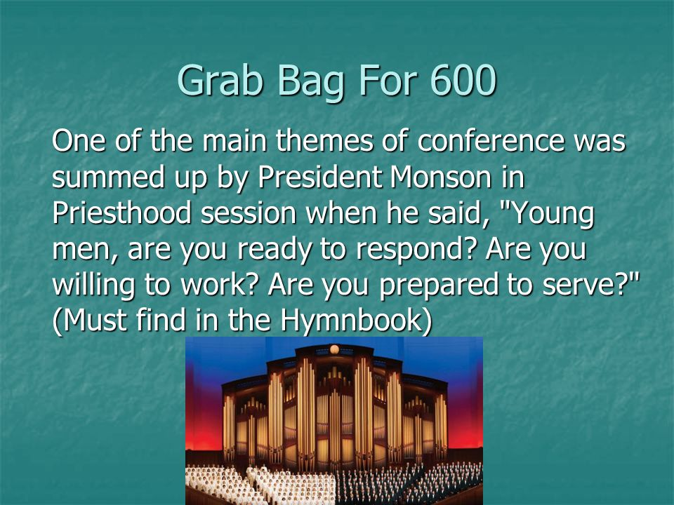 Grab Bag For 500 Where is Cedar City, Utah and Rio de Janeiro, Brazil Back Back Back
