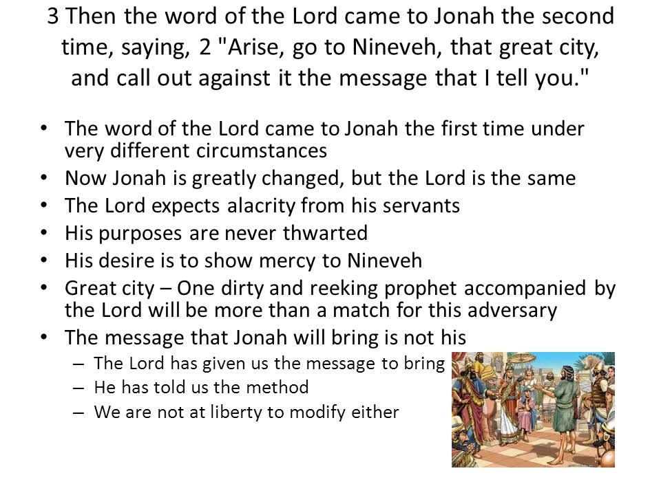 3 So Jonah arose and went to Nineveh, according to the word of the Lord.