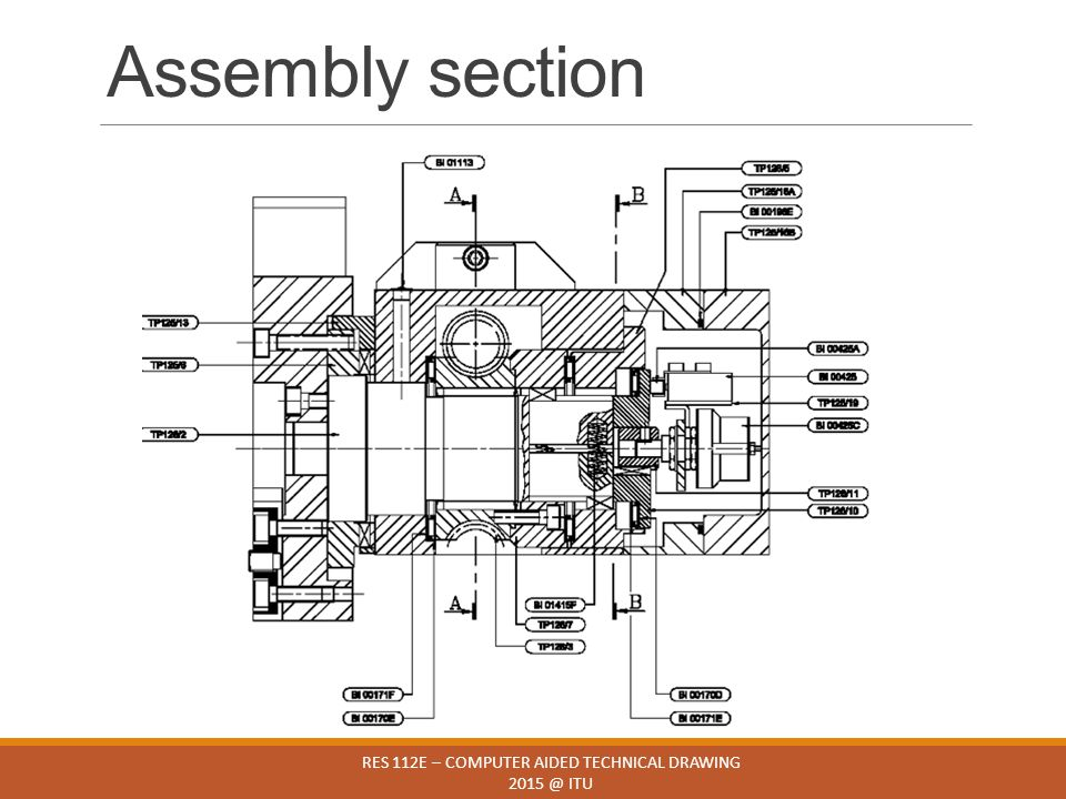 Assembly section RES 112E – COMPUTER AIDED TECHNICAL DRAWING 2015 @ ITU