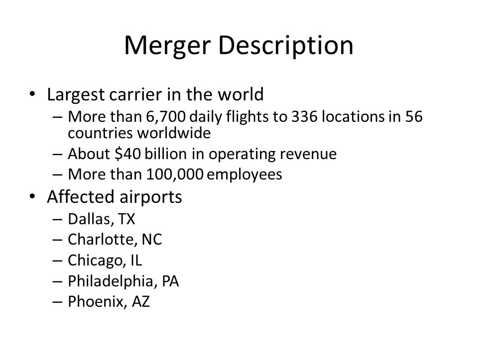 HMG - Targeted Customers and Price Discrimination Impact of a merger on various groups of customers Price discrimination – Leisure travelers – Business travelers