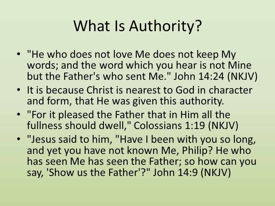 What Is Authority?