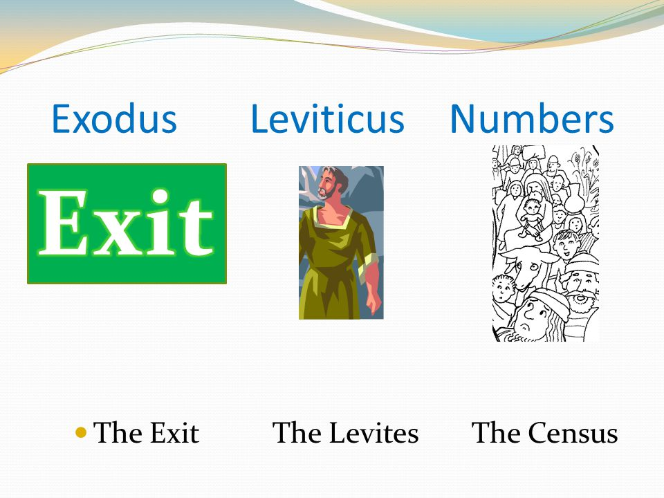 ExodusLeviticusNumbers The ExitThe LevitesThe Census