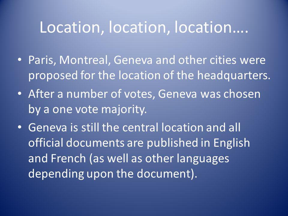 Location, location, location….