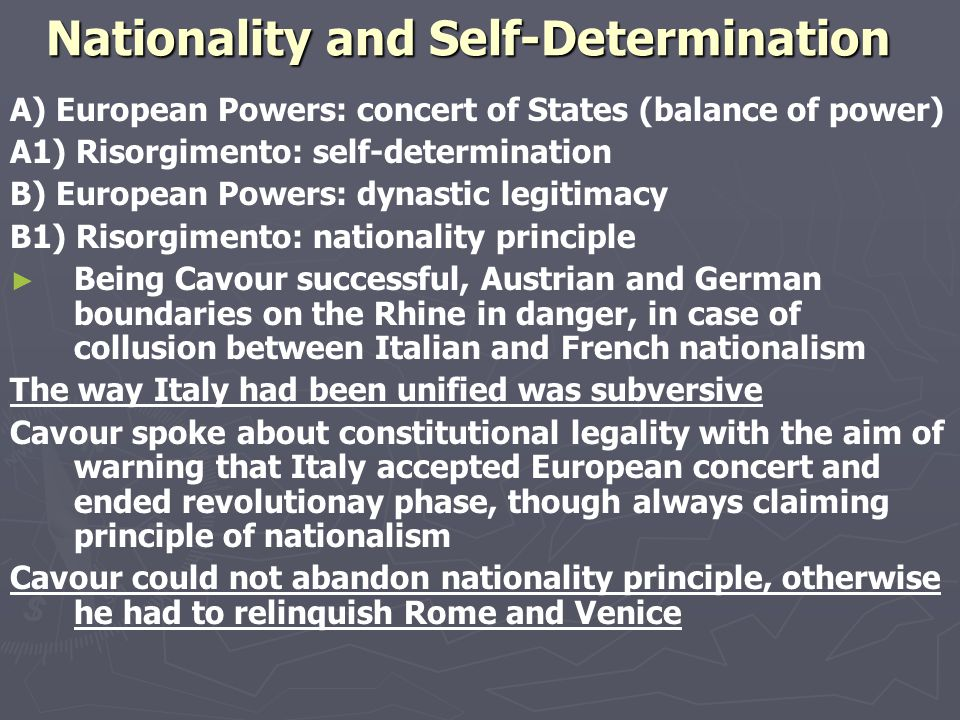 Annexations and international right ► Treaty of Zurich 1859 ► Lombardy, except Mantua, ceded to France and given to Sardinia as a gift ► Italian Confe