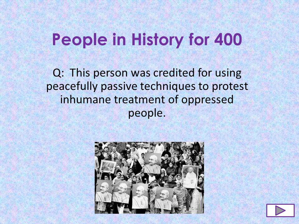 People in History for 300 A: Harriet Tubman