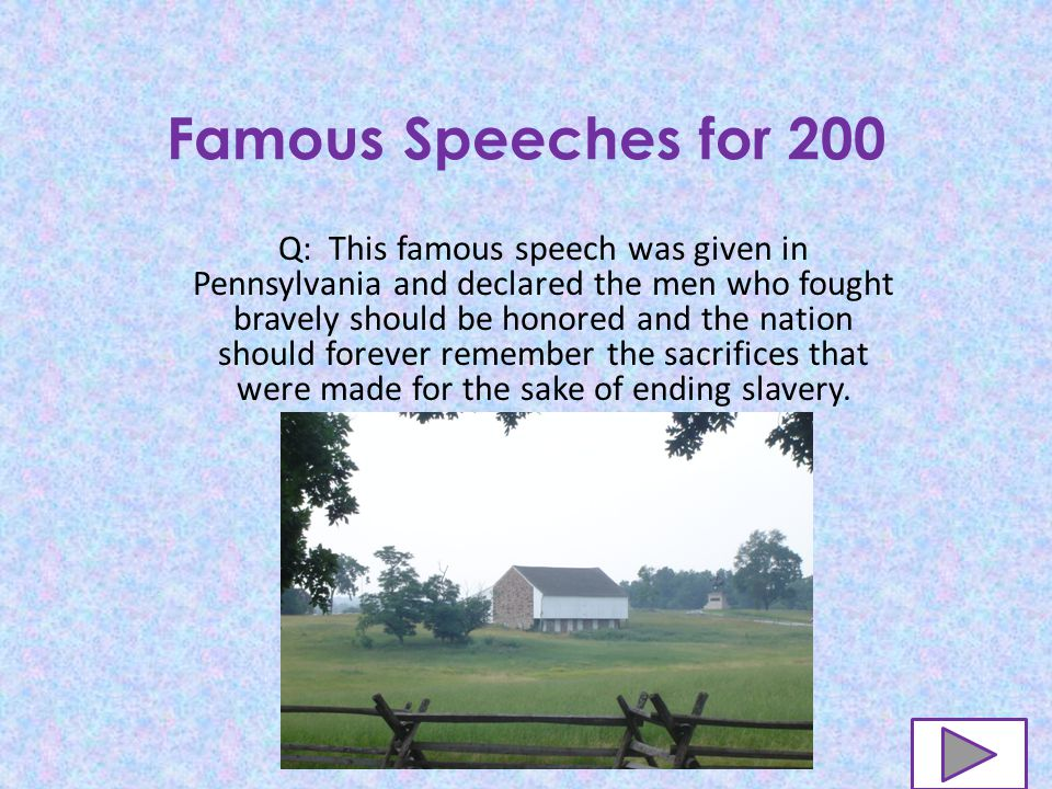 Famous Speeches for 100 A: Segregation and Discrimination