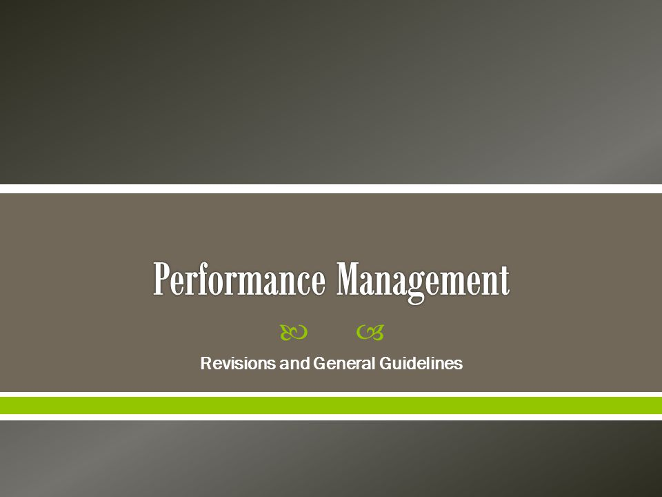  Revisions and General Guidelines