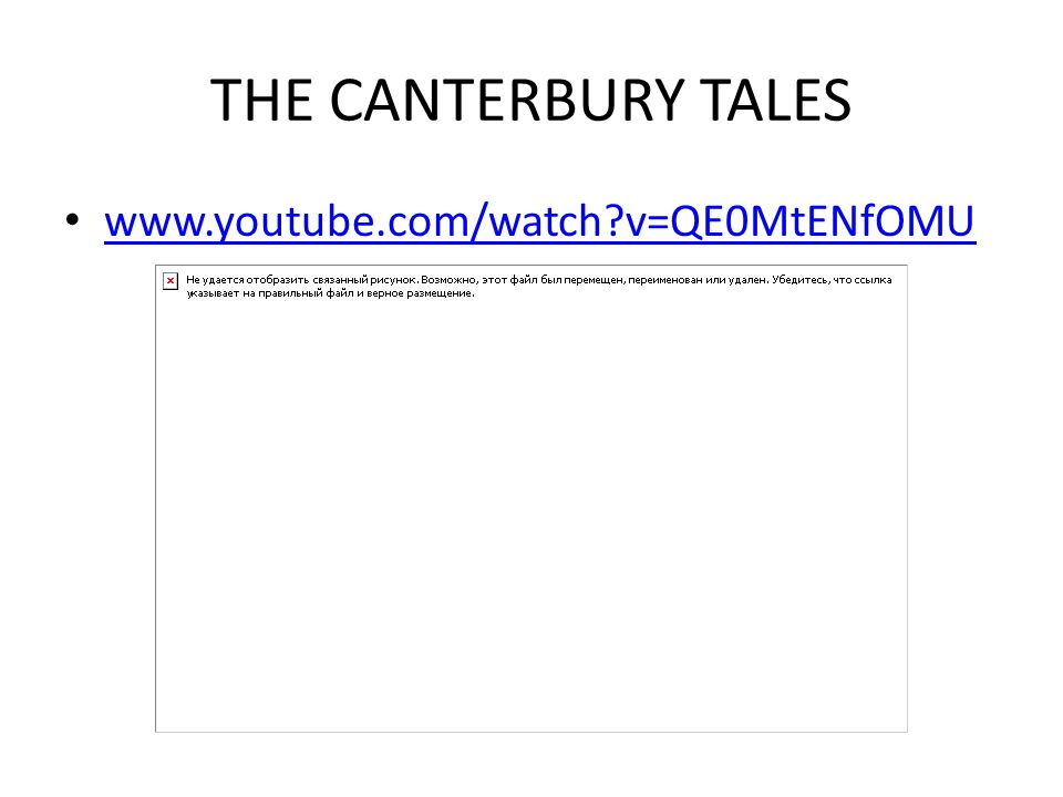 THE CANTERBURY TALES www.youtube.com/watch v=QE0MtENfOMU