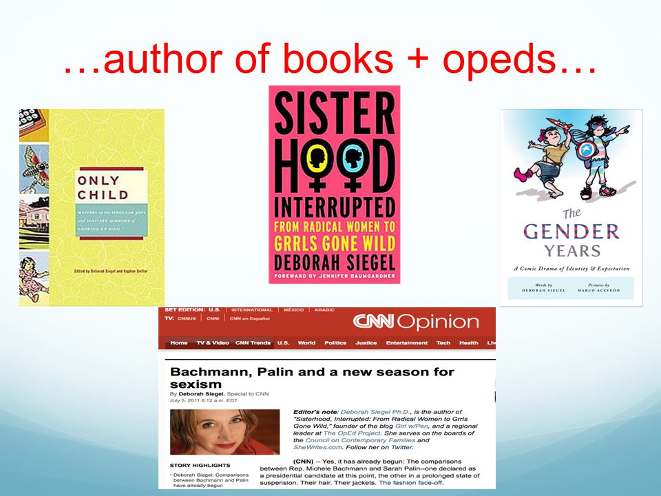 …author of books + opeds…