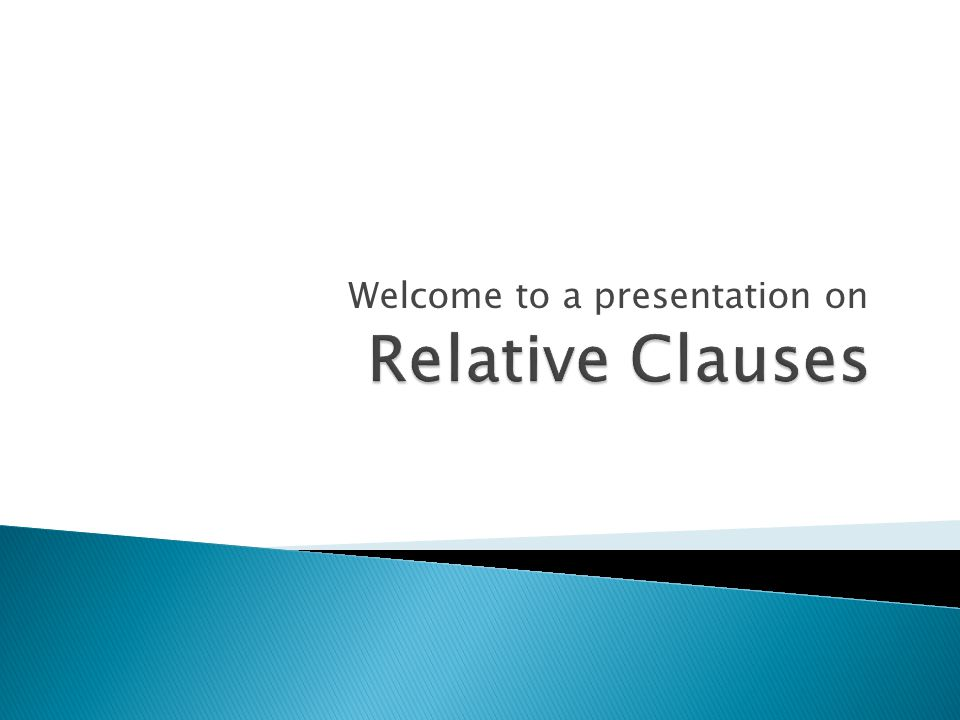 Welcome to a presentation on