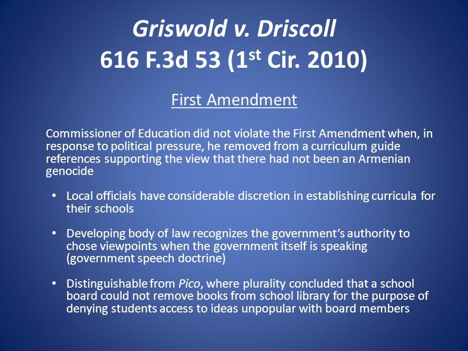 Griswold v. Driscoll 616 F.3d 53 (1 st Cir.
