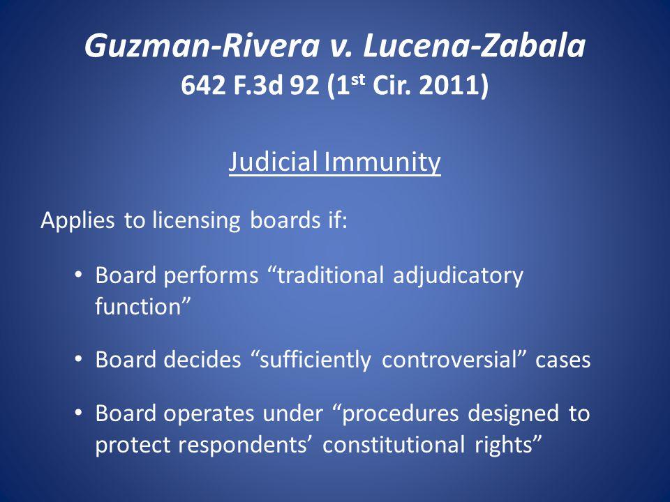 Guzman-Rivera v. Lucena-Zabala 642 F.3d 92 (1 st Cir.