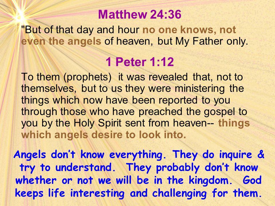 Matthew 24:36