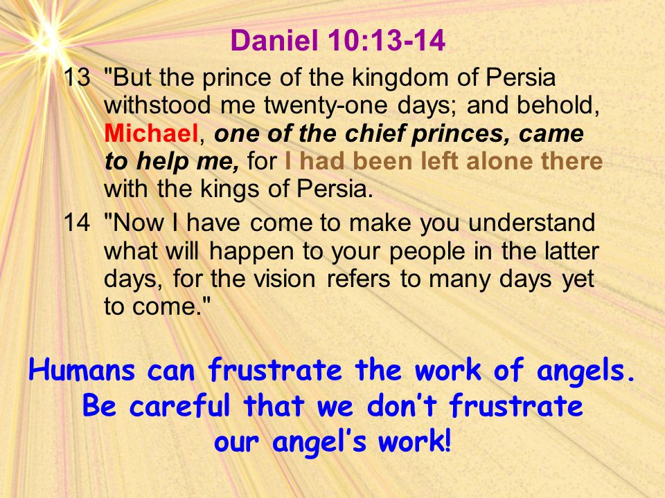 Daniel 10:13-14 13