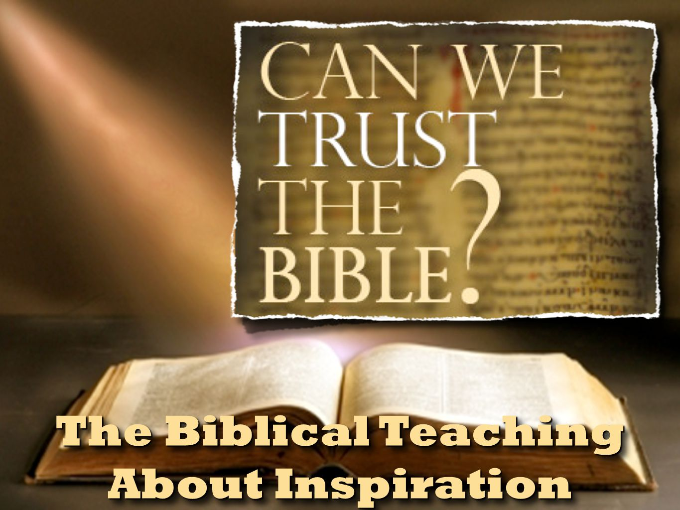 Inspiration Defined The Trustworthiness of The Scriptures 2 Peter 1:20-21 (NKJV) 20 knowing this first, that no prophecy of Scripture is of any private interpretation, 21 for prophecy never came by the will of man, but holy men of God spoke as they were moved by the Holy Spirit.