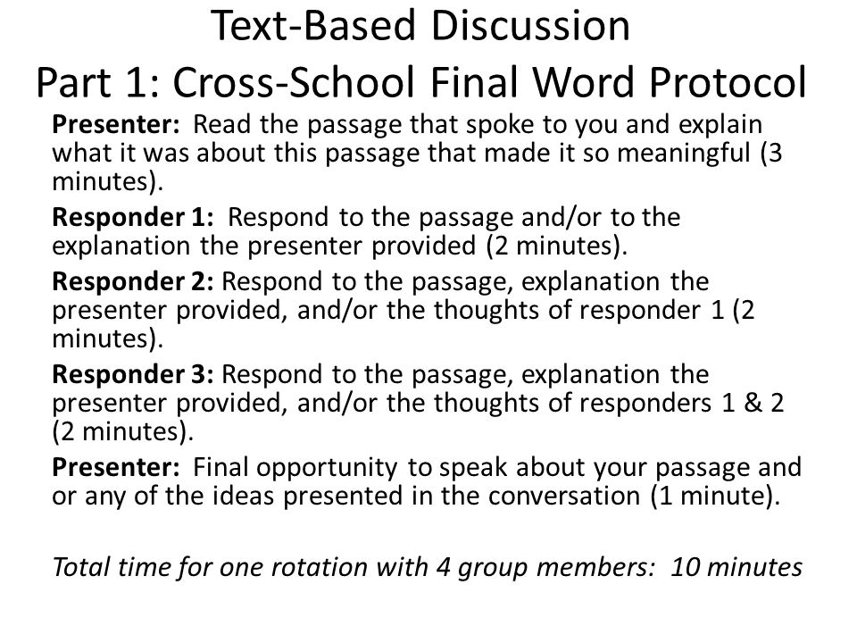 Text-Based Conversation Discuss your big takeaways from the cross- team conversations.