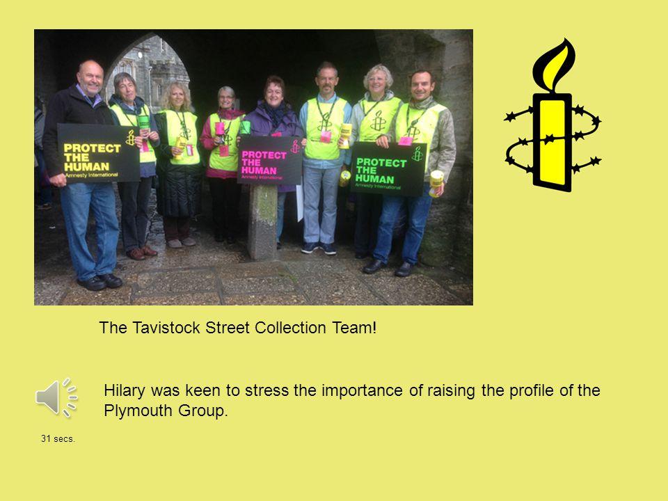 The Tavistock Street Collection Team.
