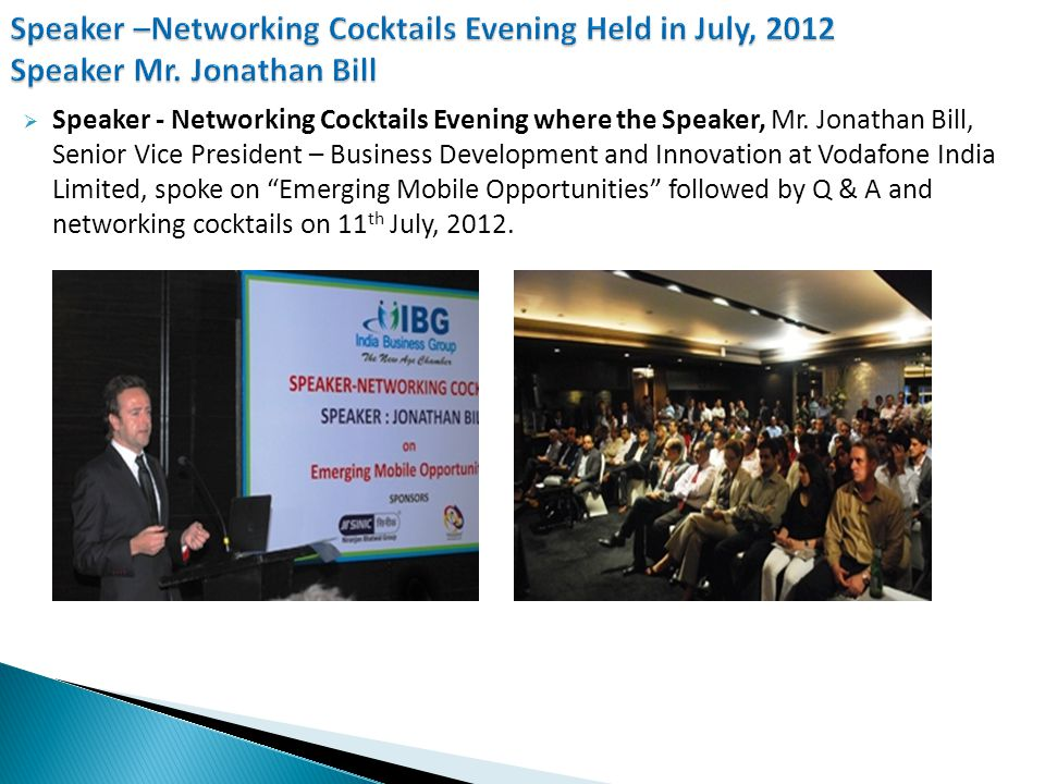 Doing Business with South Africa – Interactive Meeting with the Consul General of South Africa, Mumbai on 1 st August, 2012.