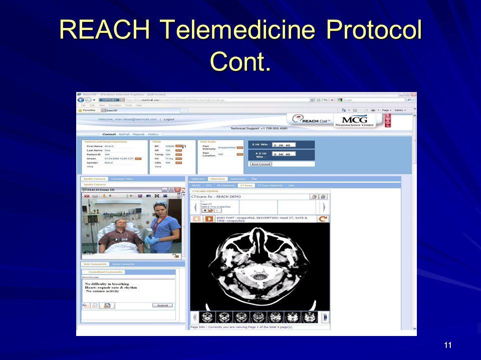 REACH Telemedicine Protocol Cont. 11