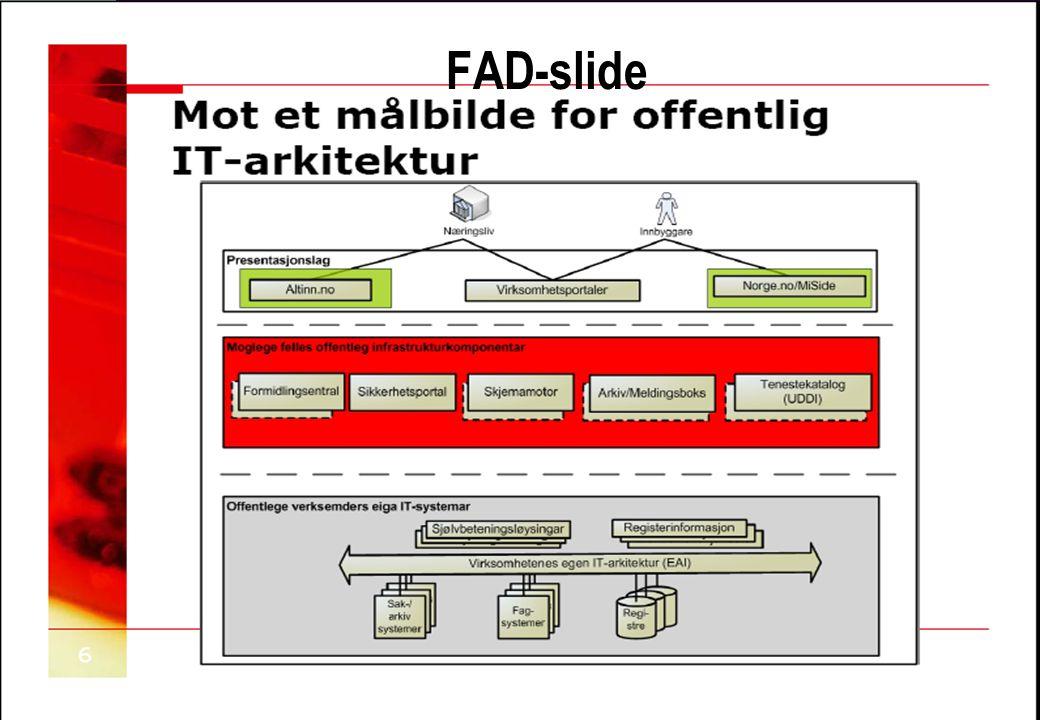 Copyright OASIS, 2007 FAD-slide