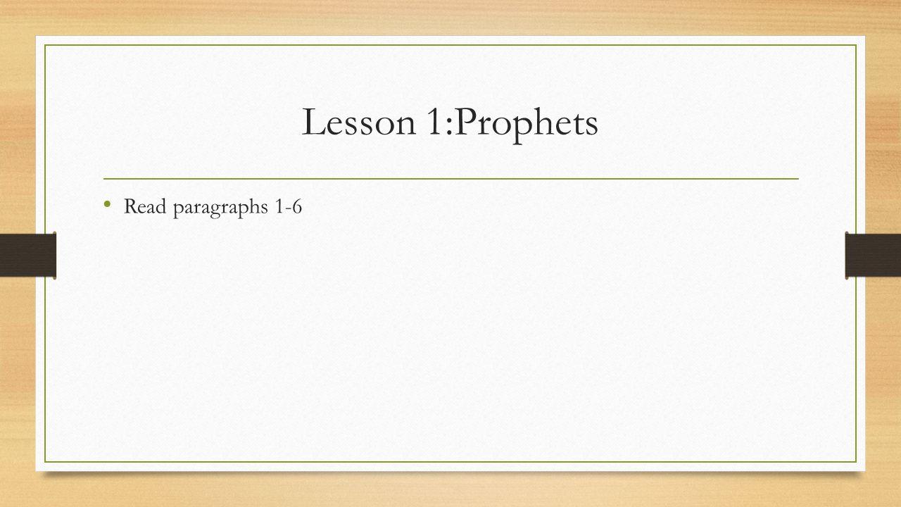 Lesson 2: Elijah and Elisha Summary: Two very great prophets are Elijah and Elisha They prefigure Jesus