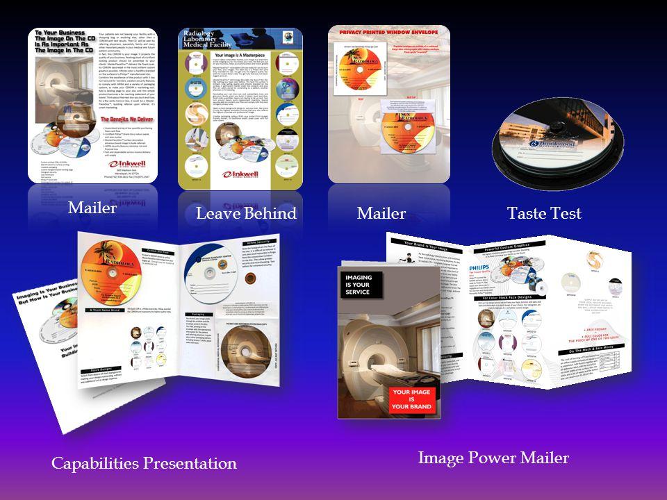 Mailer Leave BehindTaste Test Capabilities Presentation Image Power Mailer
