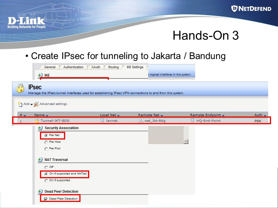 Hands-On 3 Create IPsec for tunneling to Jakarta / Bandung
