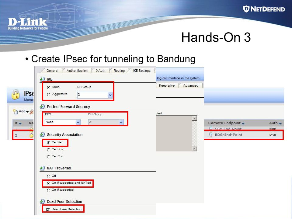 Hands-On 3 Create IPsec for tunneling to Bandung