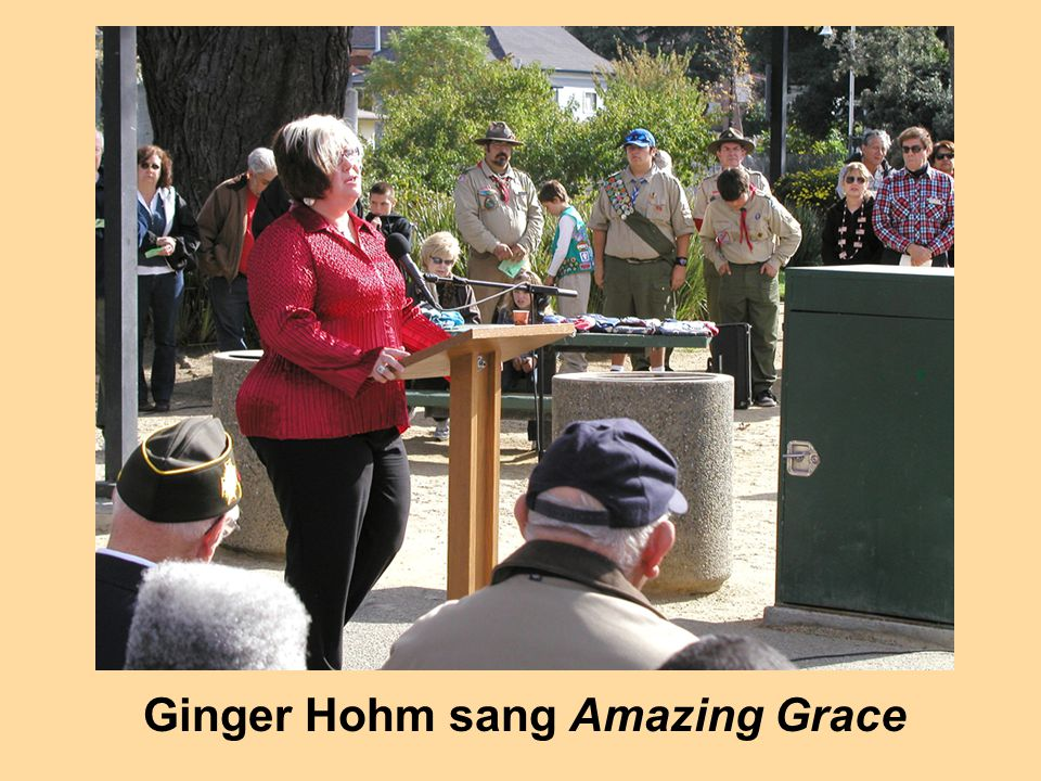 Ginger Hohm sang Amazing Grace