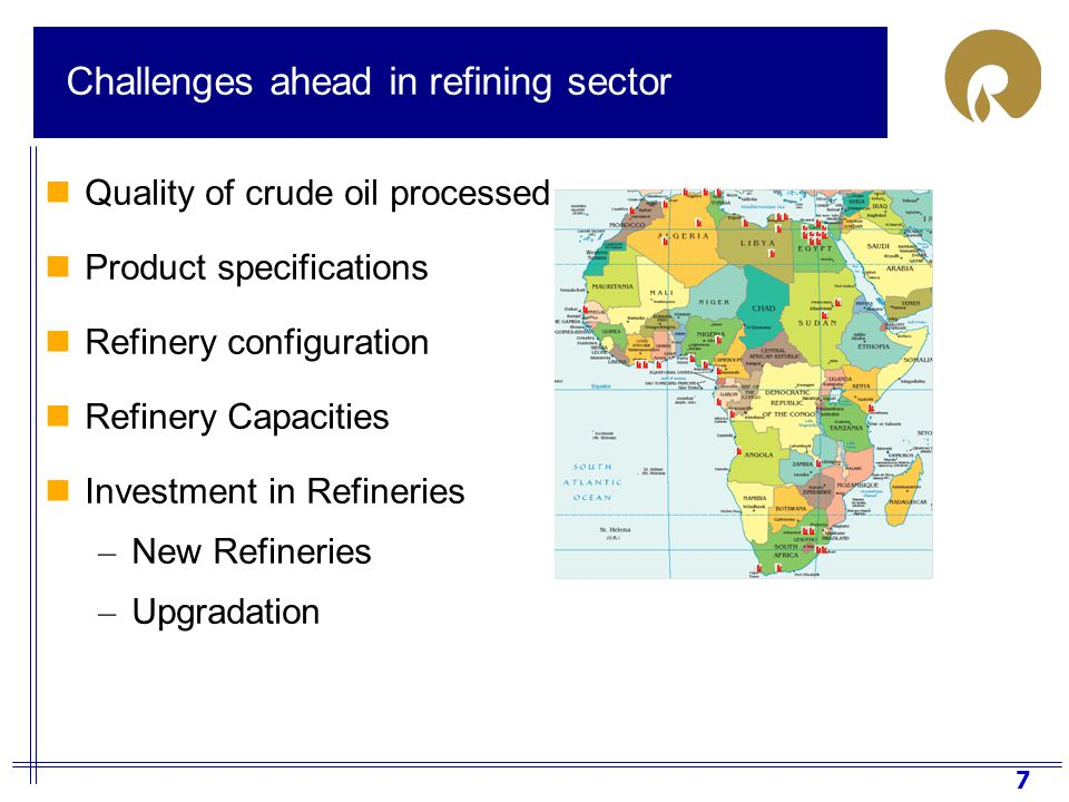 8 Quality of crude oil – look ahead Quality of Crude oil processed in Africa (2007-2030) Quality of crude oil processed in Africa is expected to improve in terms of gravity and sulphur content Source: Hart Energy