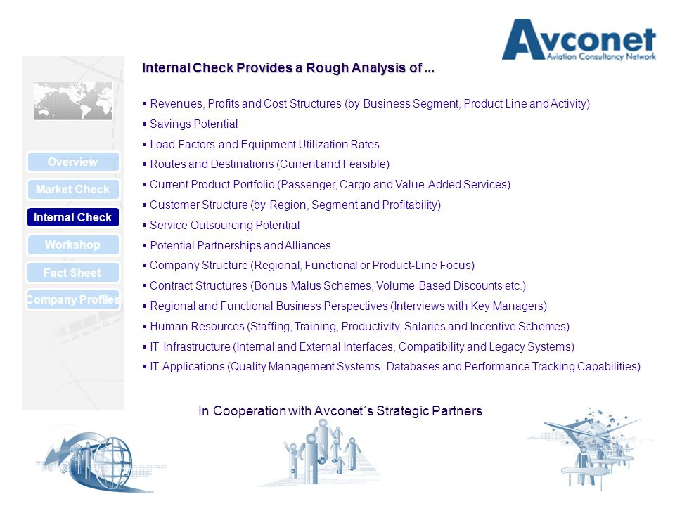 Market Check Internal Check Overview Workshop Fact Sheet Company Profiles Internal Check Provides a Rough Analysis of...