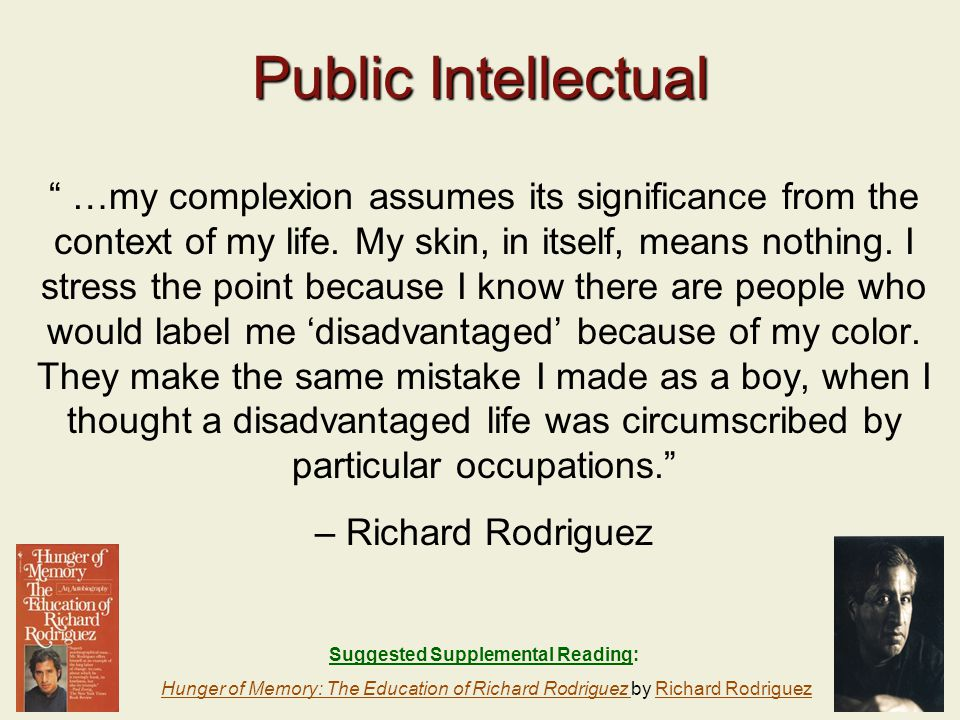 24 Public Intellectual …my complexion assumes its significance from the context of my life.
