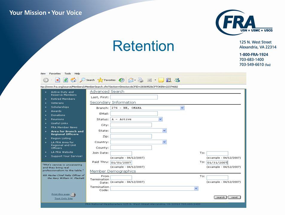 www.fra.org Retention