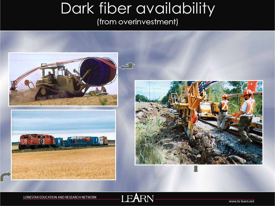 Dark fiber availability (from overinvestment)