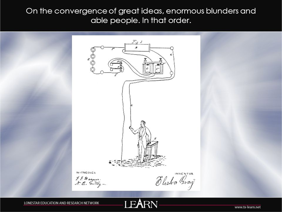 On the convergence of great ideas, enormous blunders and able people. In that order.