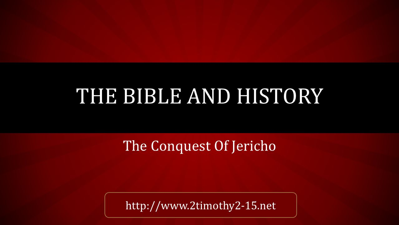INTRODUCTION Jericho is a name found 64 times within 59 verses of the King James Bible.