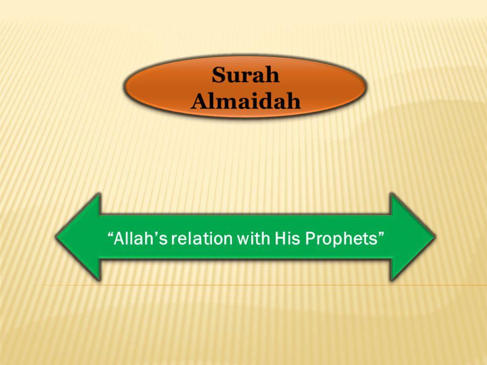 Surah Almaidah Allah's relation with His Prophets