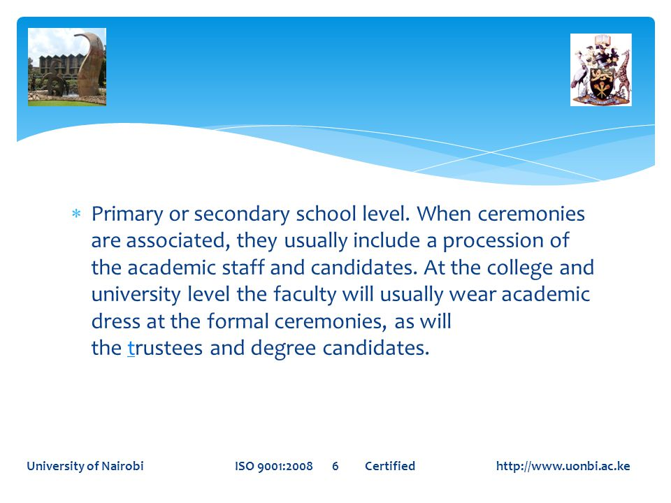 Primary or secondary school level.