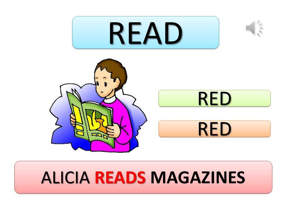 READREAD ALICIA READS ALICIA READS MAGAZINES REDRED REDRED