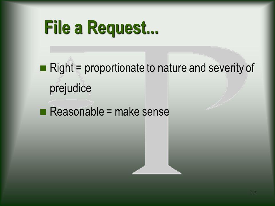 17 File a Request...