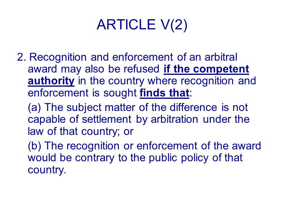 ARTICLE V(2) 2.