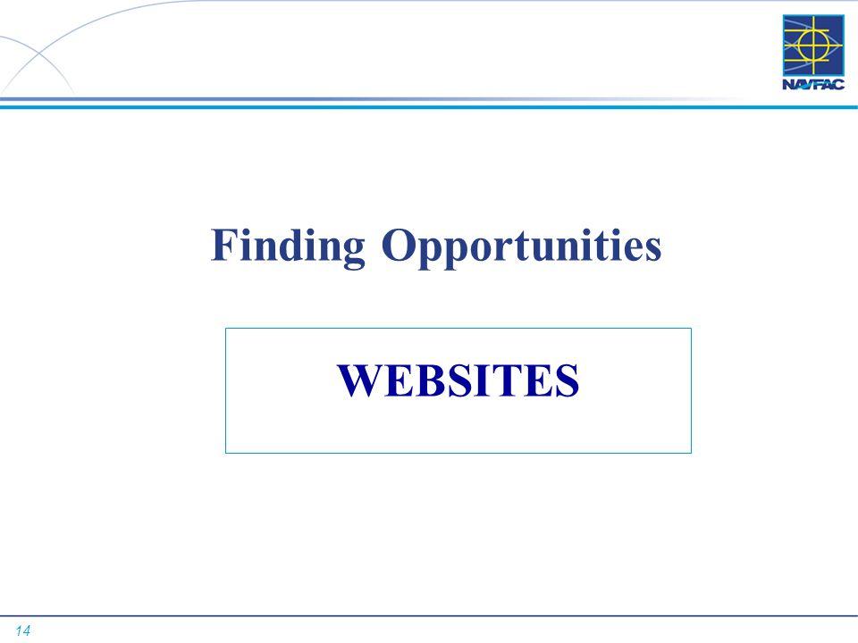 14 Finding Opportunities WEBSITES