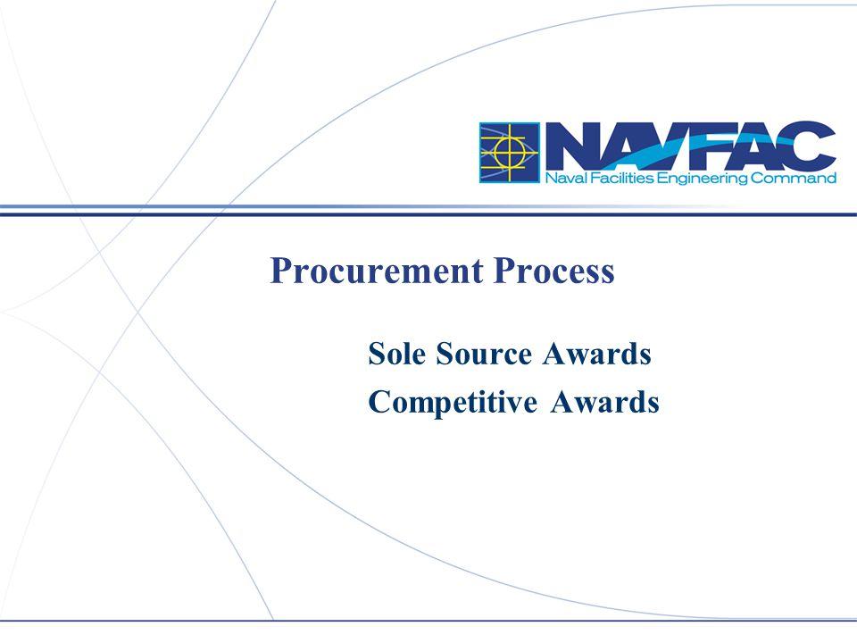 Procurement Process Sole Source Awards Competitive Awards