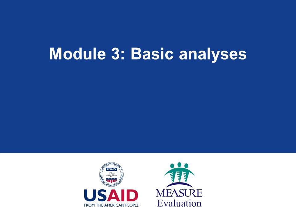 Module 3: Basic analyses