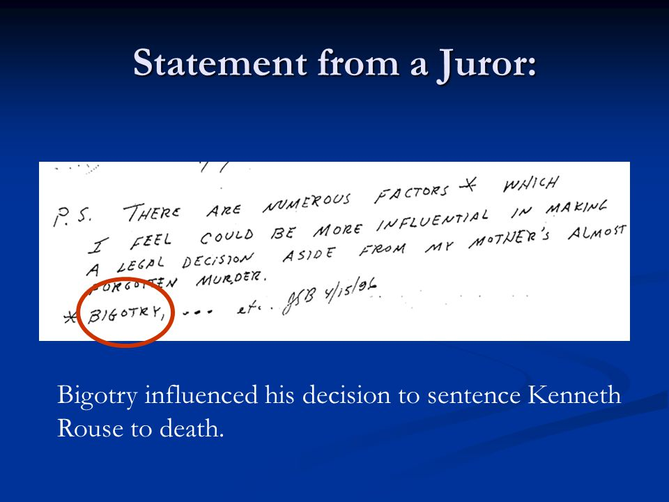 Other Prosecutor Notes
