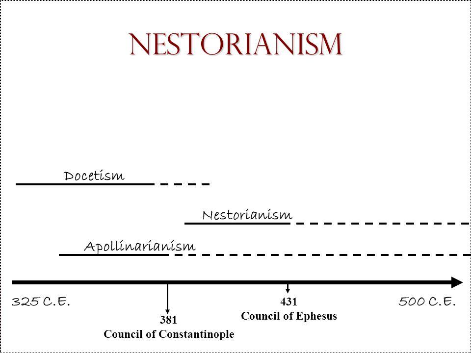 Nestorianism 500 C.E.Nestorianism 325 C.E.
