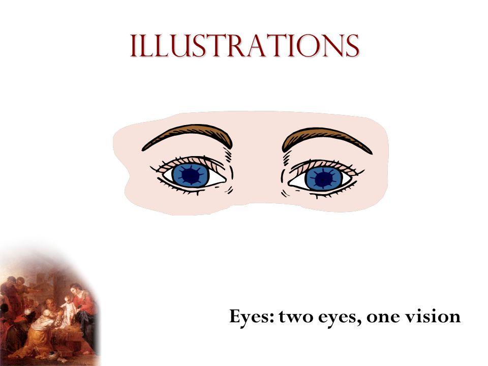 Illustrations Eyes: two eyes, one vision