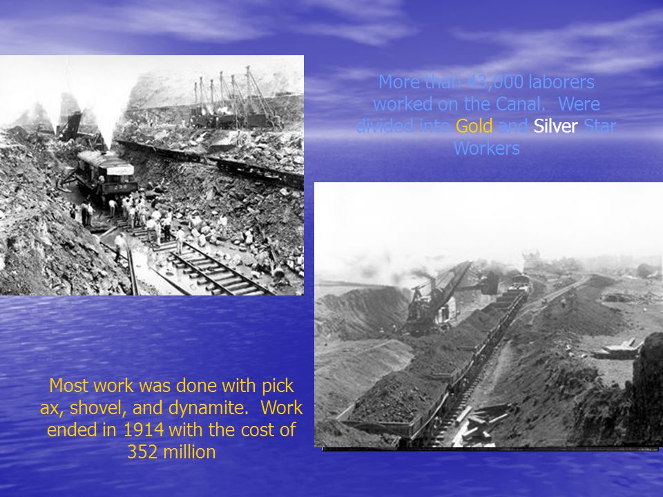 Building the Canal… Had to deal with disease. Over 5,600 workers died Had to deal with disease.